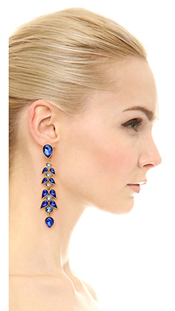 Oscar de la Renta Wisteria Clip On Earrings