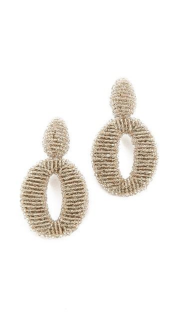 Oscar de la Renta Oscar Clip On Earrings