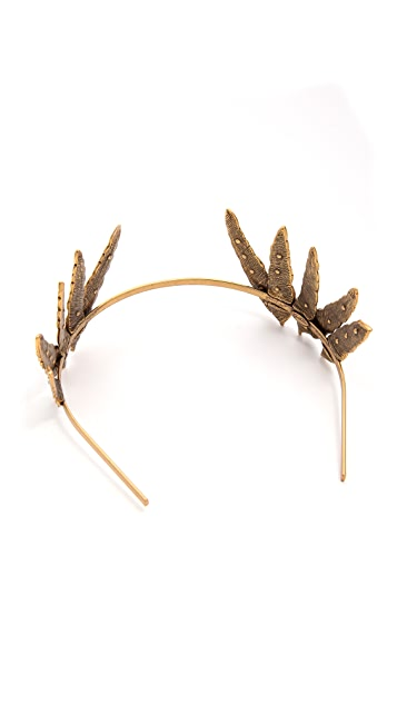 Oscar de la Renta Feather Tiara