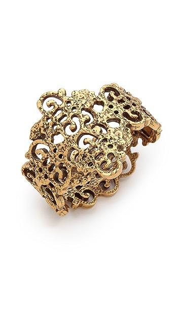 Oscar de la Renta Gold Lace Bracelet