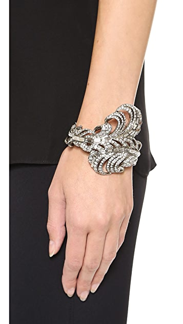 Oscar de la Renta Feather Bracelet