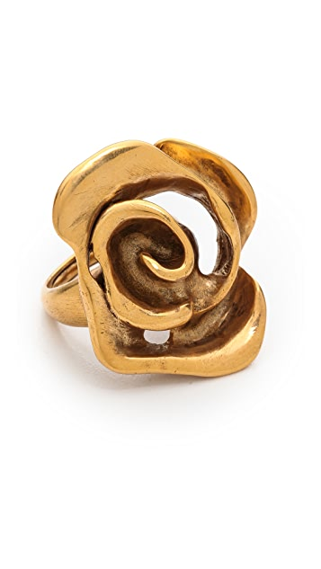 Oscar de la Renta Flower Ring