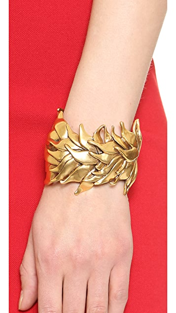 Oscar de la Renta Leaf Bracelet