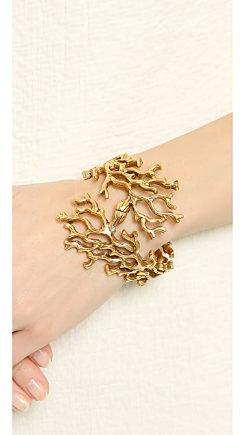 Oscar de la Renta Coral Branch Bracelet