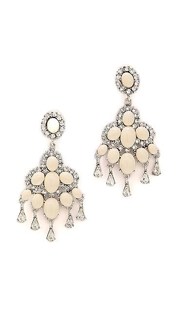 Oscar de la Renta Cabochon Chandelier Earrings