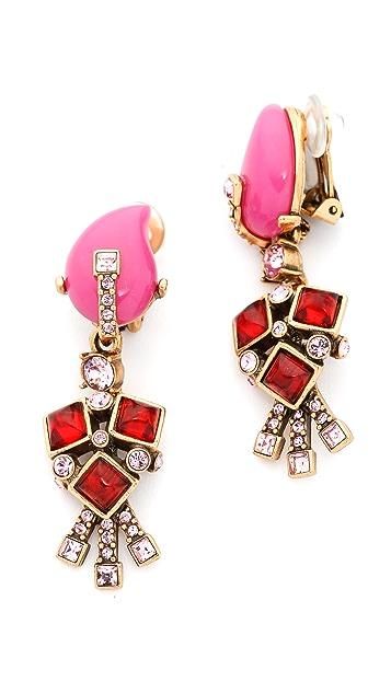 Oscar de la Renta Resin Flower Earrings