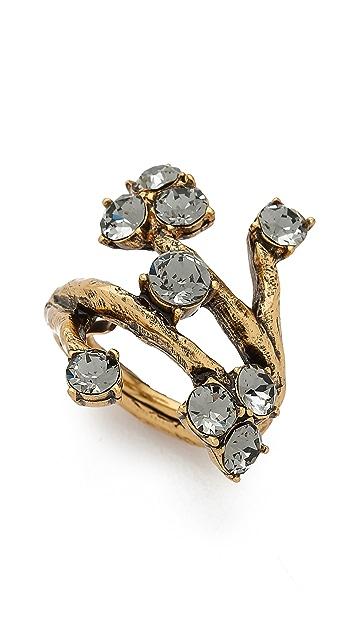 Oscar de la Renta Crystal Branch Ring