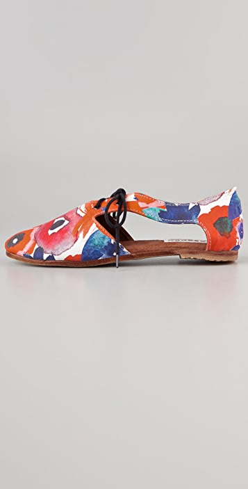 Osborn Floral Lace Up Flats