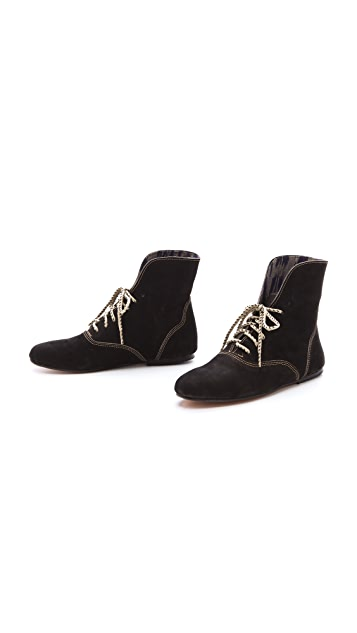Osborn Leather Print Cuff Booties