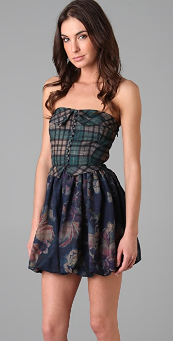 Oscar the Third Othello Strapless Dress