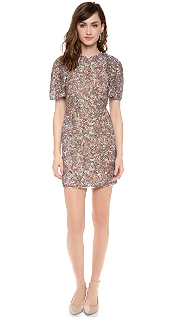 O'2nd Floral Heather Puff Sleeve Dress