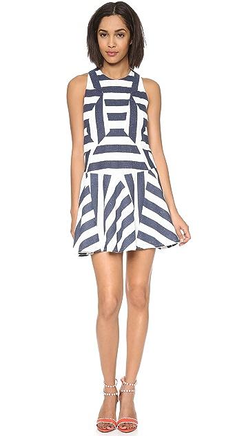 O'2nd Stripe Paneled Flare Dress