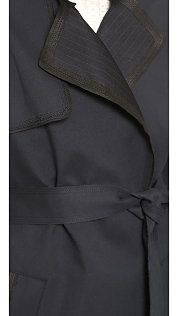 O'2nd Malo Trench with Leather Trim