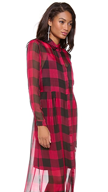 Osklen Buffalo Plaid Shirtdress