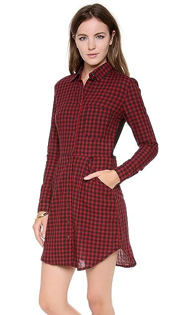 Osklen Vichy Wrinkle Shirtdress
