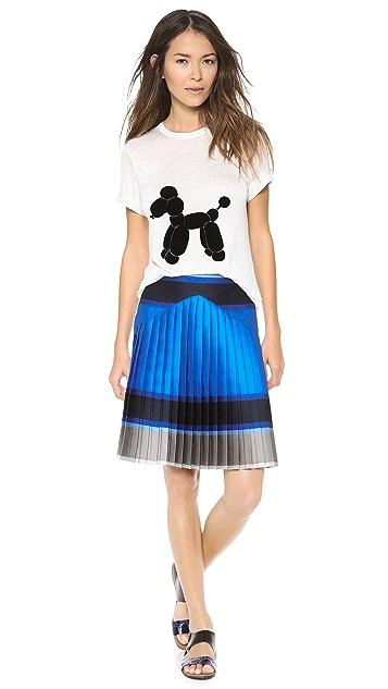 Ostwald Helgason Striped Pleated Skirt