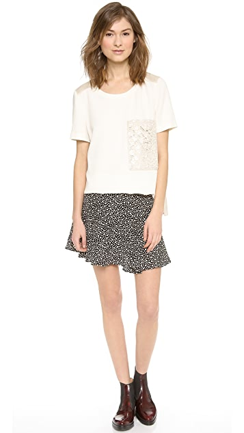 OTTE NEW YORK Printed Morgan Skirt