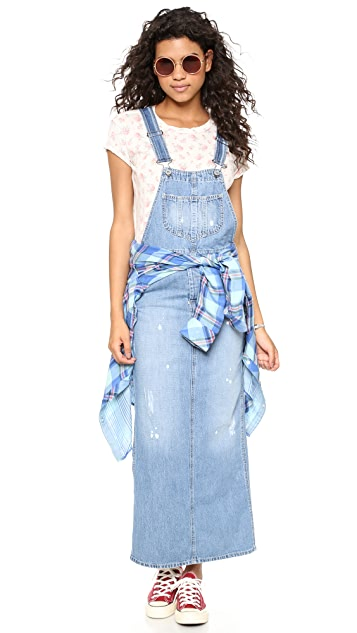 Otto d'ame Denim Overall Dress