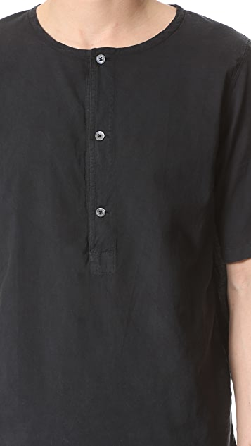 Our Legacy Pigment Cotton Voile Henley