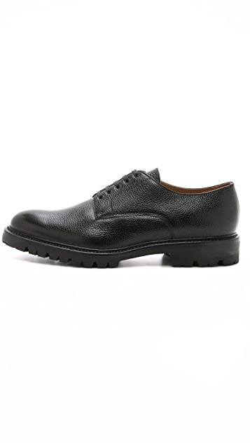 Ovadia & Sons Midwood Pebble Grain Derby Shoes