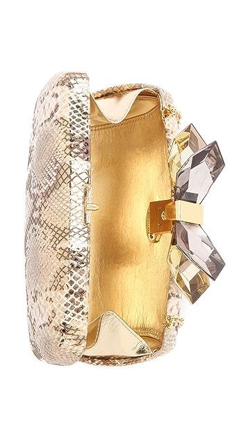 Overture Judith Leiber Avery Metallic Snake Clutch