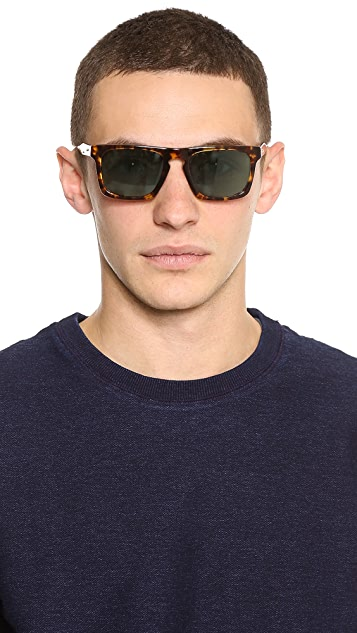 Oliver Peoples West San Luis Dark Tortoise Sunglasses