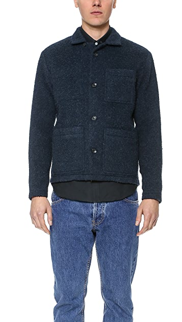 Patrik Ervell Boiled Wool Shirt Jacket