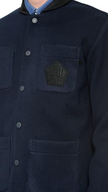 Patrik Ervell Bonded Knit Officer Jacket