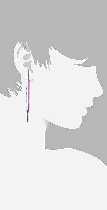 Pamela Love Porcupine Drop Earrings