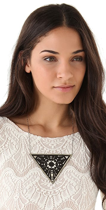 Pamela Love Zellij Triangle Pendant Necklace