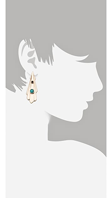 Pamela Love Keyhole Earrings
