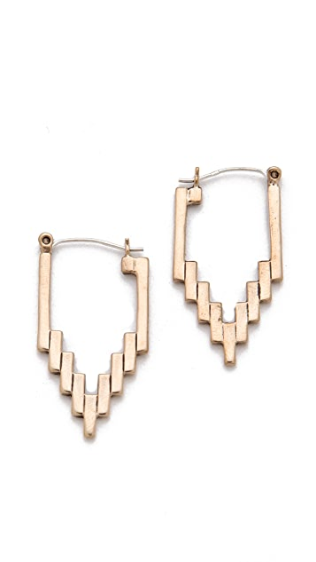 Pamela Love Empire Hoop Earrings