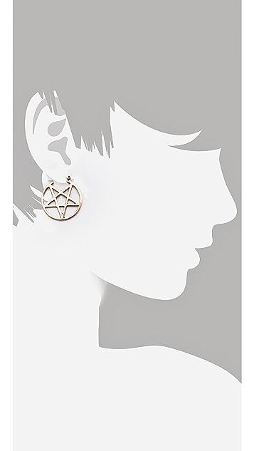 Pamela Love Mini Pentagram Earrings