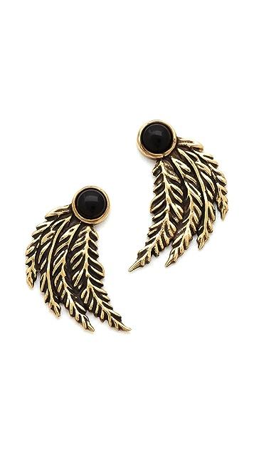 Pamela Love Feather Earrings
