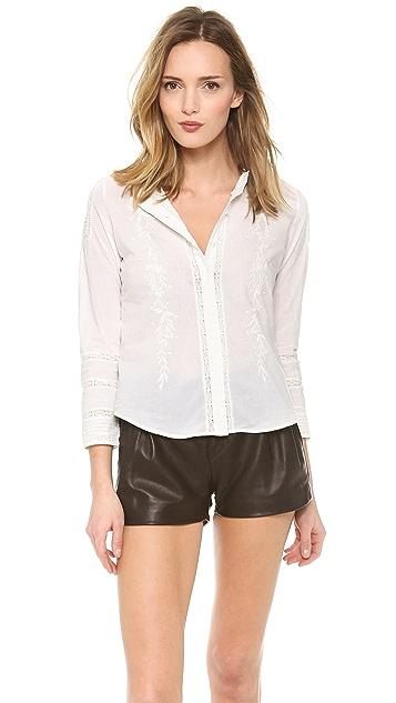 Pam & Gela Bracelet Sleeve Button Blouse