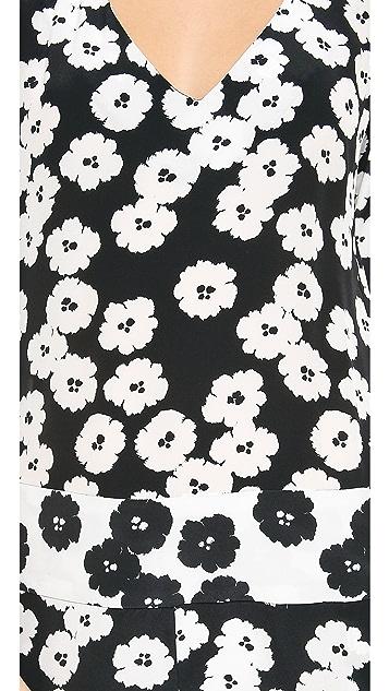Pam & Gela Printed Puff Sleeve Romper