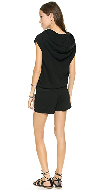 Pam & Gela Sleeveless Hooded Romper