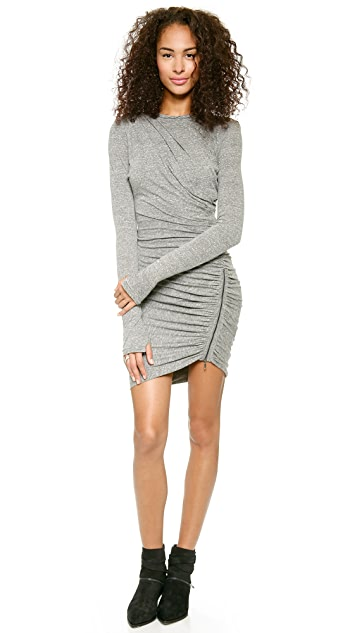 Pam & Gela Twisted Zip Knit Dress