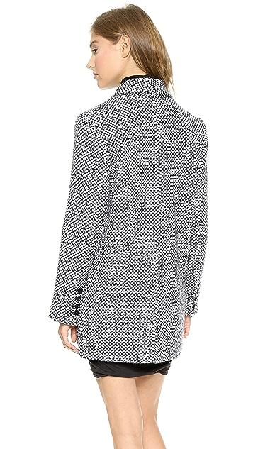 Pam & Gela Wool Check Coat