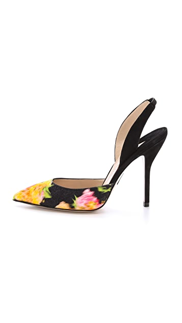 Paul Andrew Passion Satin Pumps