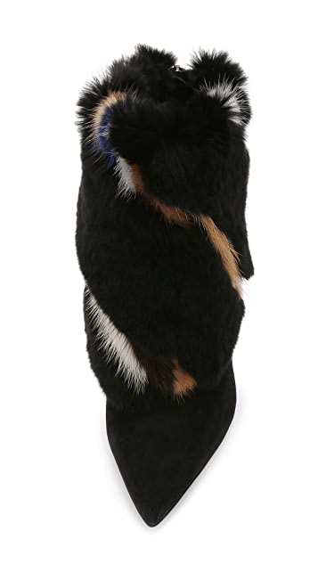 Paul Andrew Bowery Fur Booties