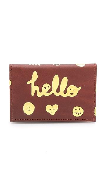 Paris House Hello Card Case