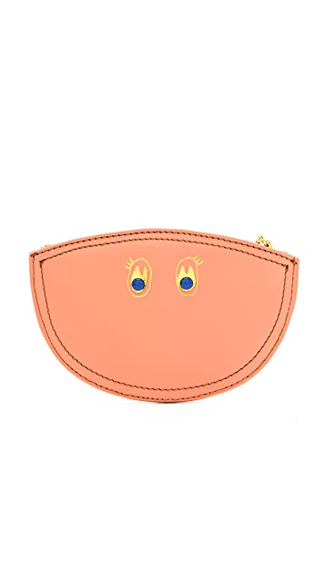 Paris House Happy Face Coin Purse