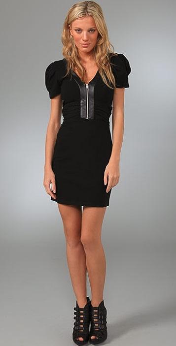 Parker Leather Inset Dress