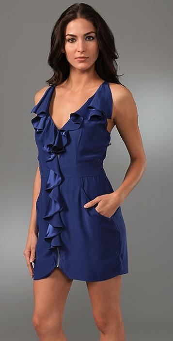 Parker Ruffle Zip Front Dress