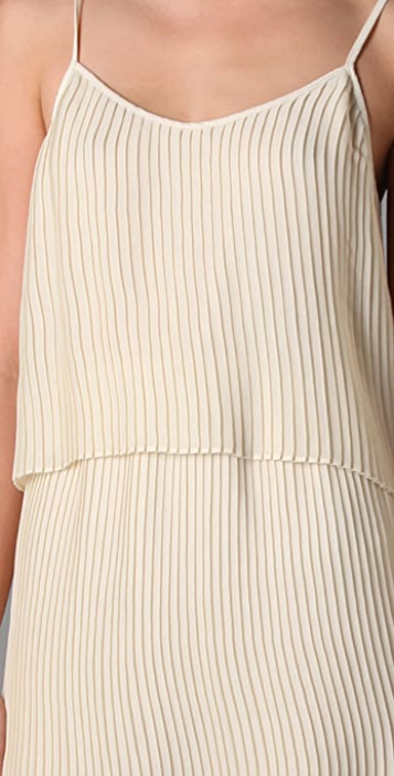 Parker Solid Pleated Dress