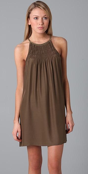 Parker Solid Chain Neck Dress
