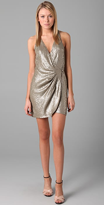 Parker Baby Sequin Wrap Dress