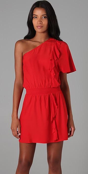 Parker One Shoulder Ruffle Dress