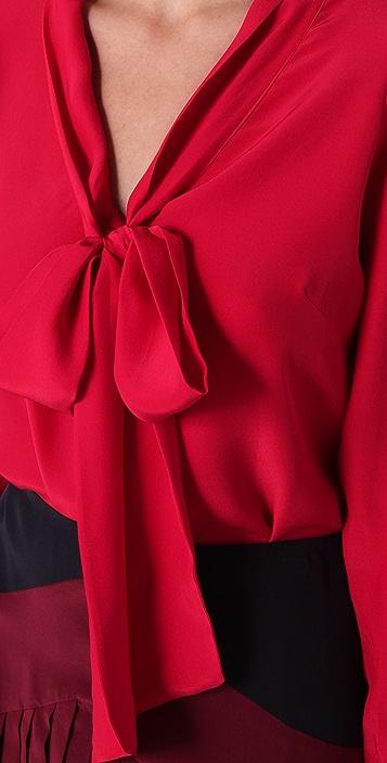 Parker Tie Front Blouse